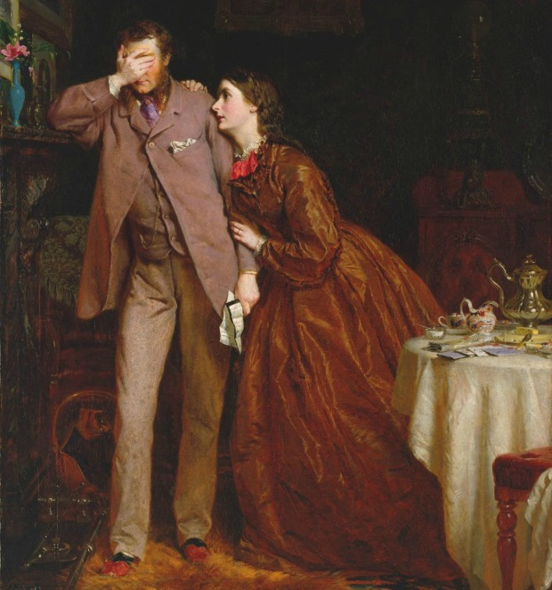 Woman's Mission: Companion of Manhood by George Elgar Hicks, 1863.(Tate Museum)