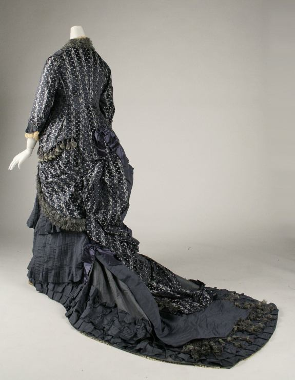 1880 French Silk Dress.(Image via Met Museum)