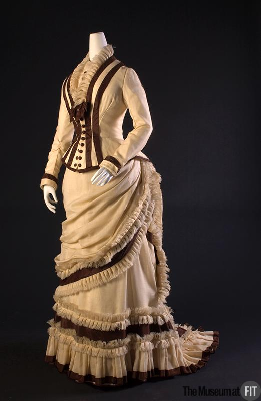 1880 Afternoon Dress.(Museum at FIT)