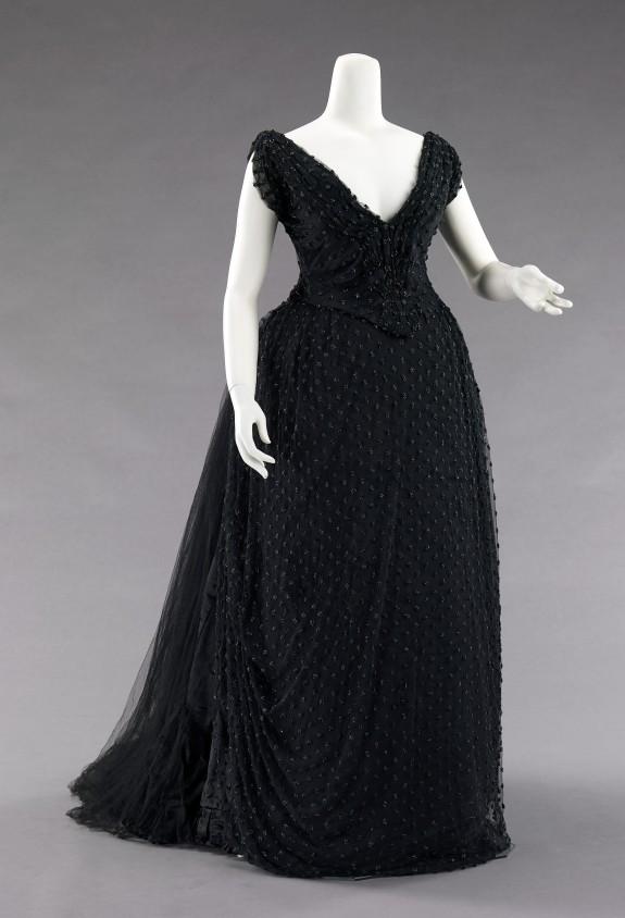 1885 Hoschedé Rebours Evening Dress.(Met Museum)