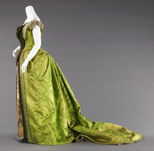 1887 House of Worth Evening Dress.(Met Museum)