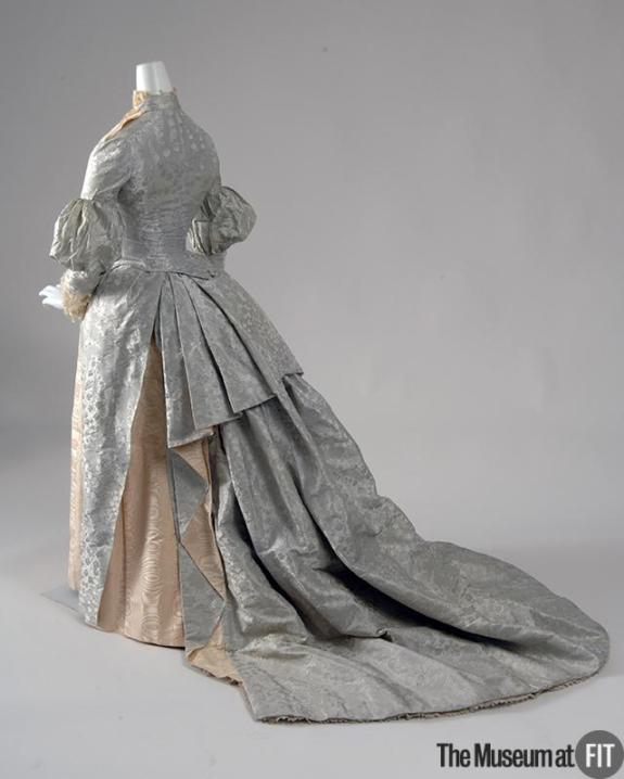 1887 Silk Jacquard Dress .(Museum at FIT)