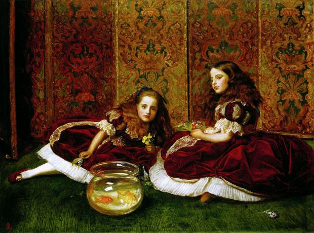 Leisure Hours by John Everett Millais, 1864.(Detroit Institute of Arts)