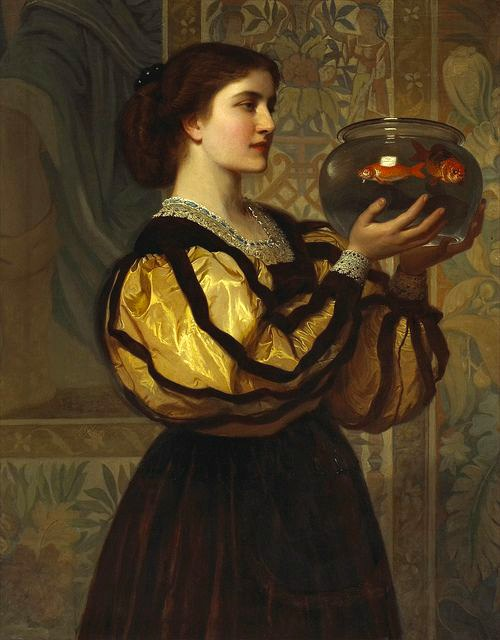The Goldfish Bowl by Charles Edward Perugini, 1870.