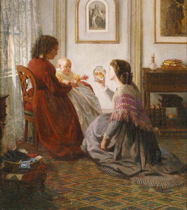 The Shattuck Family, with Grandmother, Mother & Baby William by Aaron Draper Shattuck, 1865.(Image via Brooklyn Museum)