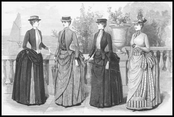 Yachting and Tennis Costumes, Harper's Bazaar, 1887.