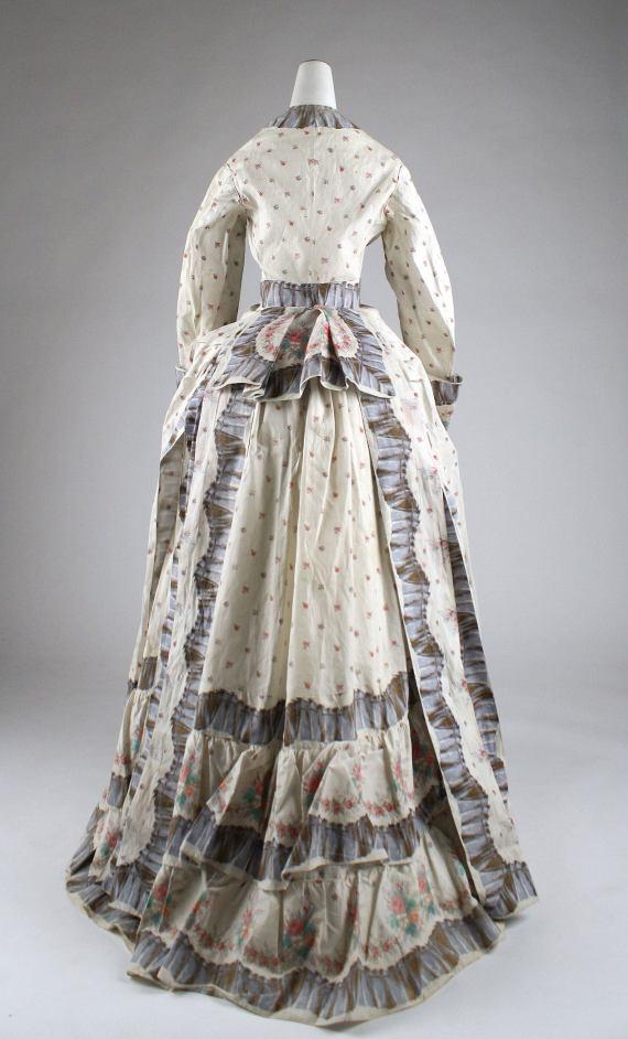 1870s Cotton Morning Dress.(Met Museum)