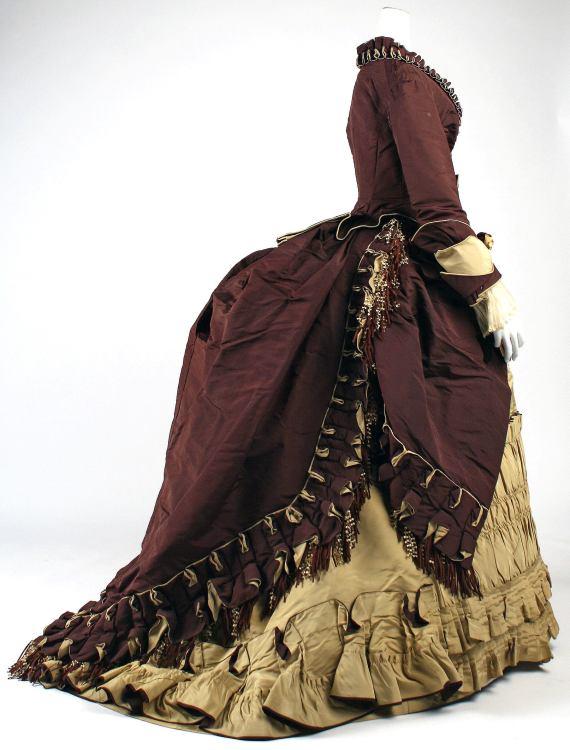 1872 Emile Pingat French Silk Visiting Dress.(Met Museum)