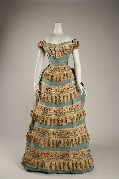 1872 House of Worth Silk Ball Gown.(Met Museum)
