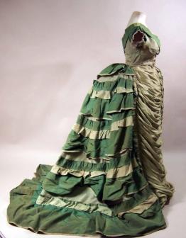 1874-1876 Corded Silk Evening Dress.(Manchester Art Gallery)