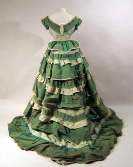 1874-1876 Corded Silk Evening Dress. (Manchester Art Gallery)