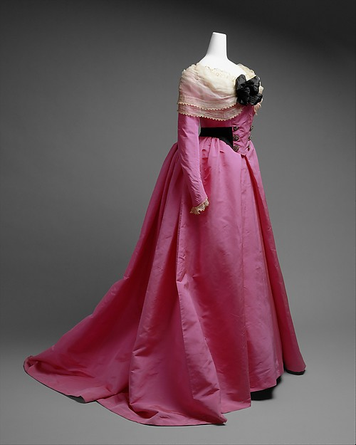 1893 House of Worth 18th Century Revival-Style Fancy Dress Costume.(Met Museum)