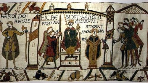 Bayeux Tapestry, Harold Coronation.