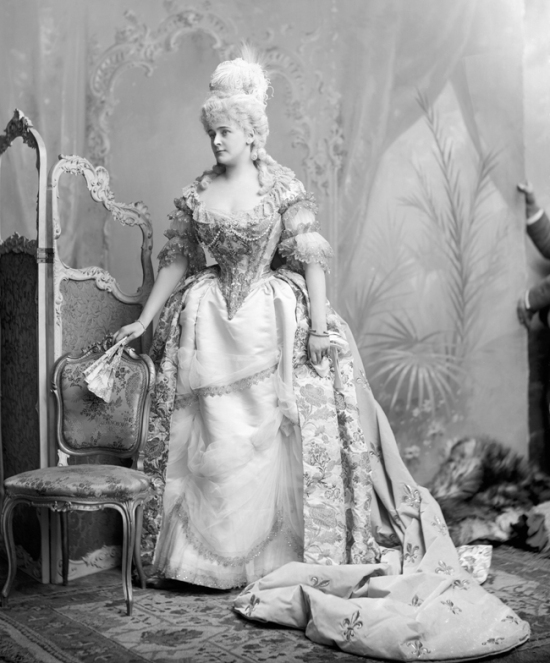 Daisy Greville, Countess of Warwick as Marie Antoinette at the Devonshire House costume ball in 1897 by James Lafayette