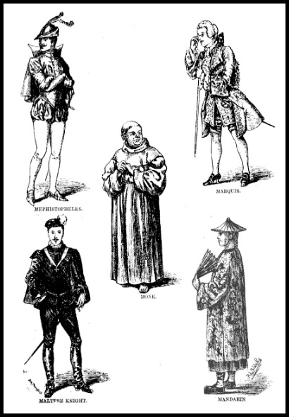 Male Character Costumes for Fancy Dress Balls and Private Theatricals, 1884.