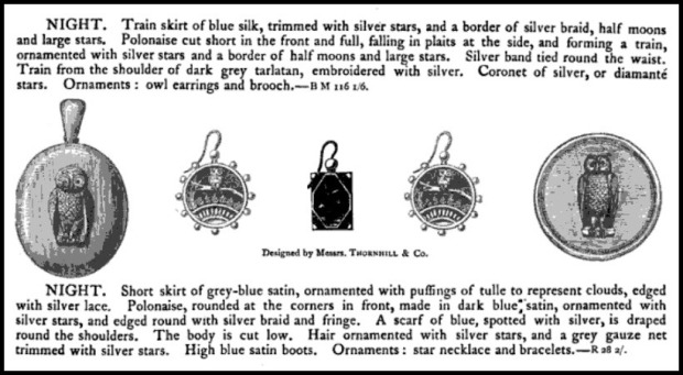 night characters suitable for fancy dress costume balls 18811