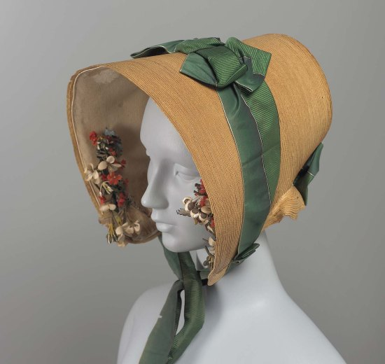 1840 Leghorn Bonnet.(MFA Boston)