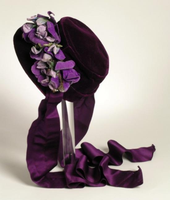 1862 Silk Velvet Bonnet.(LACMA)