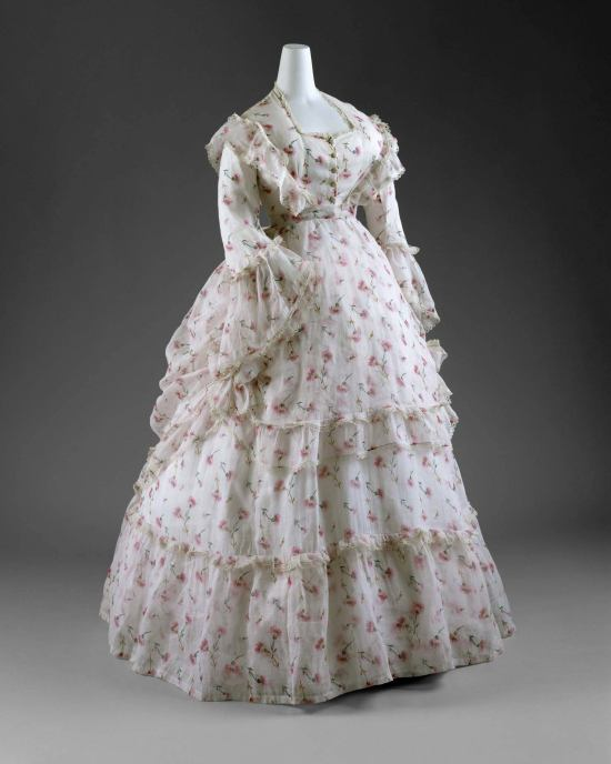 1872 French Cotton Summer Day Dress.(Met Museum)