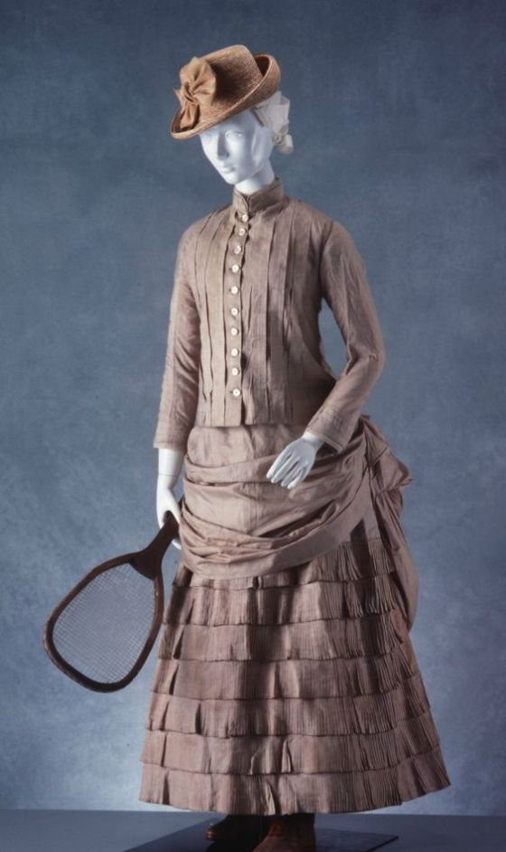1880-1890 British Two-Piece Tennis Ensemble.(Image via Powerhouse Museum)
