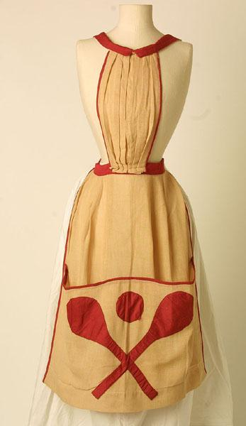 1880-1900 Cotton Tennis Apron.(Manchester Art Gallery)