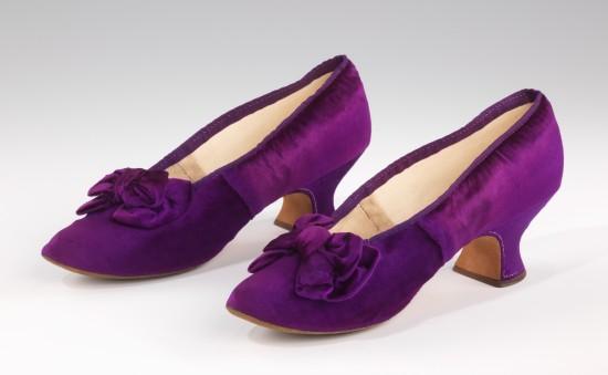 1885-1890 J. Ferry Evening Slippers.(Met Museum)