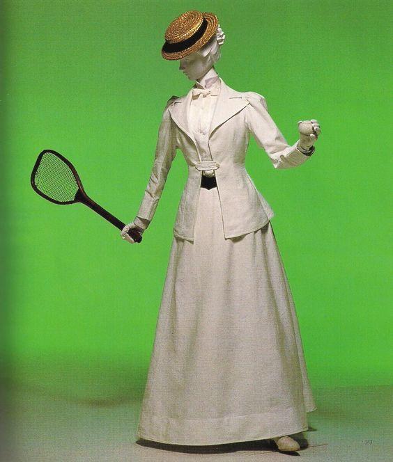 1890 White Cotton Piqué Tennis Suit.(Image via Kyoto Costume Institute)