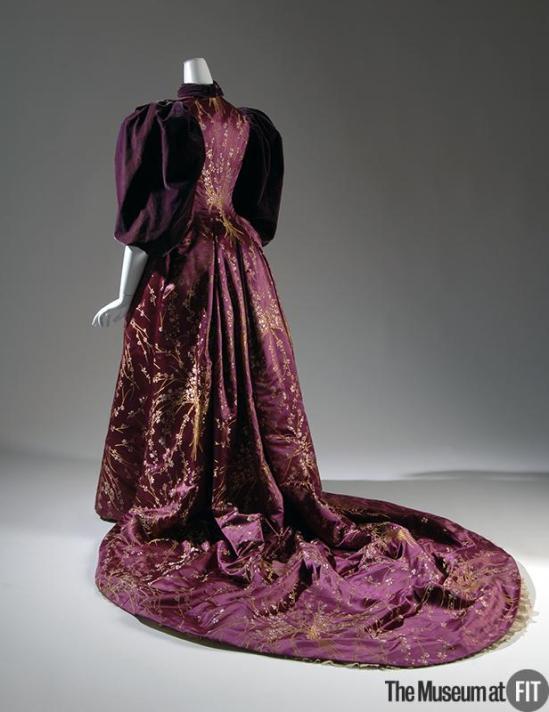 1894 Plum Velvet Evening Dress.(Museum at FIT)