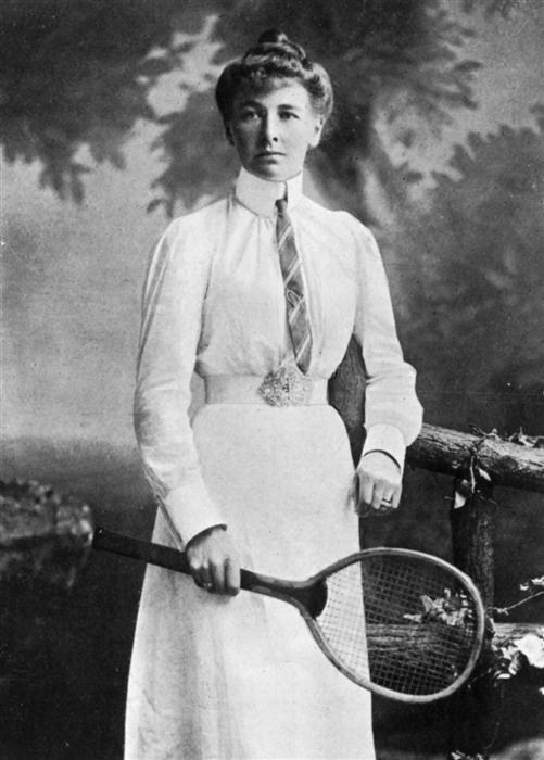 English Tennis Champion Charlotte Cooper, 1900.
