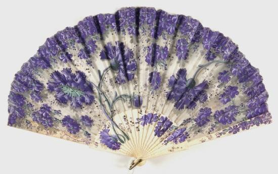 Late 19th/Early 20th Century Sheer Shilk Fan.(Philadelphia Museum)