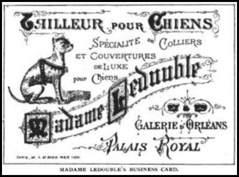 Madame Ledouble's Business Card, The Strand Magazine, 1896.