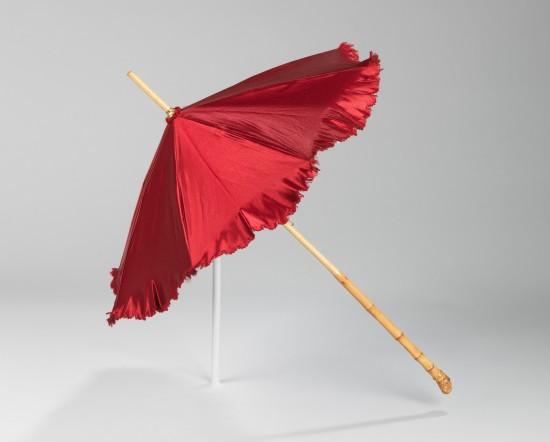 1886 Red Silk Parasol.(Met Museum)