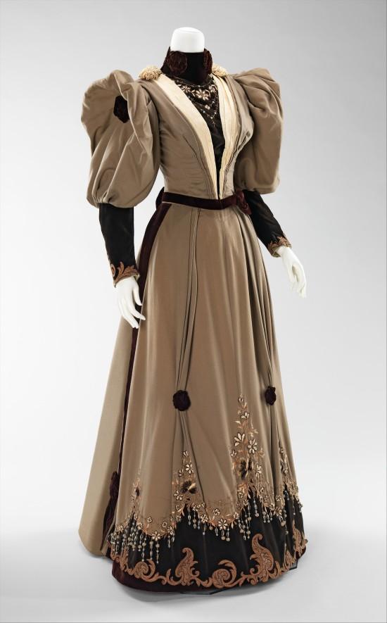 1893 Evening Dress.(Met Museum)