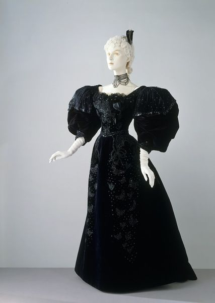 1894 Stern Brothers Evening Dress.(Victoria and Albert Museum)