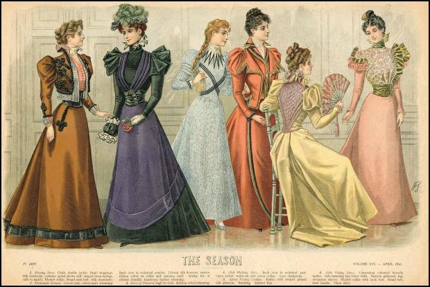 1895-1898 Fashion Plate.(Met Museum)