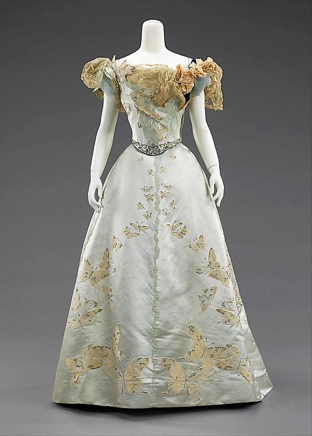 1898 Butterfly Ball Gown.(Met Museum)