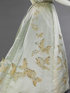 1898 House of Worth Butterfly Ball Gown.(Met Museum)