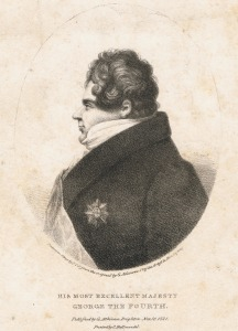 George IV in profile by George Atkinson, 1821.