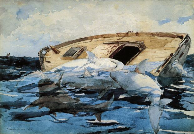 Sharks by Winslow Homer, 1885.