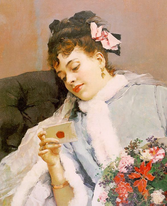 The Love Letter by Raimundo de Madrazo y Garreta, 19th Century.