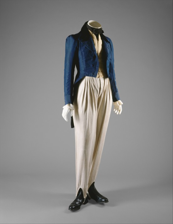 1833 Blue Silk Coat.(Met Museum)