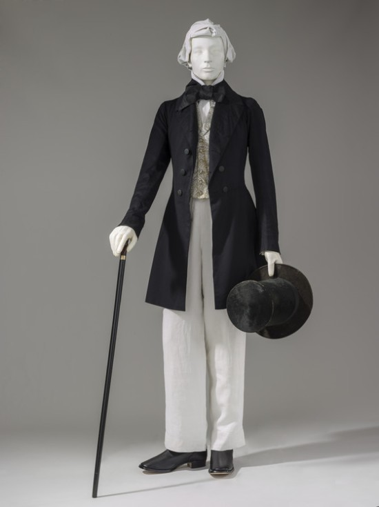 1852 Frock Coat and Trousers.(LACMA)