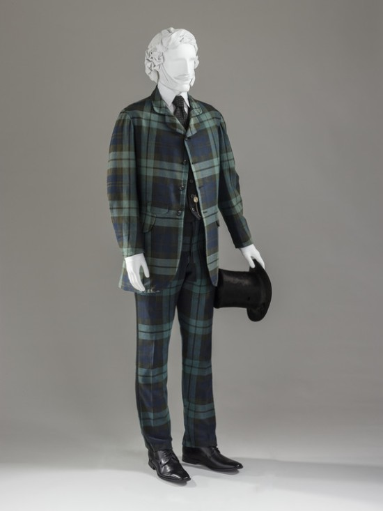1860-1870 Wool Plaid Suit.(LACMA)