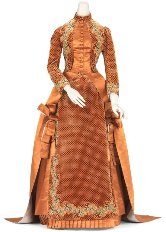 1884 House of Worth Silk Afternoon Dress.(National Gallery of Victoria)