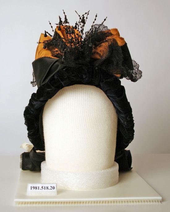 1888 Silk and Jet Hat.(Met Museum)