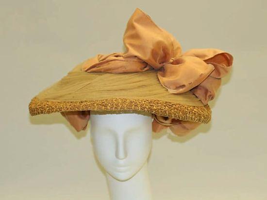 1890s Straw Hat.(Met Museum)