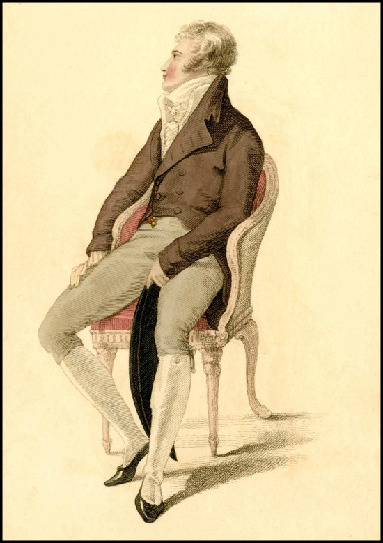 Full Dress of a Gentleman, Ackermann's Plate, 1810.