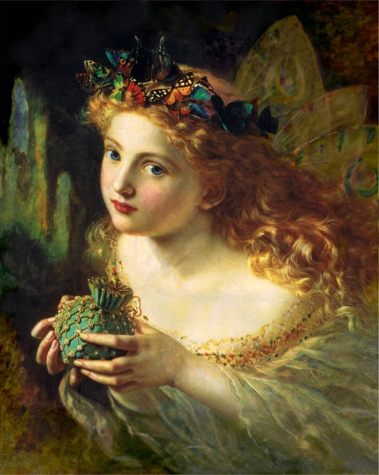 Take the Fair Face of Woman, and Gently Suspending, With Butterflies, Flowers, and Jewels Attending, Thus Your Fairy is Made of Most Beautiful Things by Sophie Gengembre Anderson, (1823-1903)