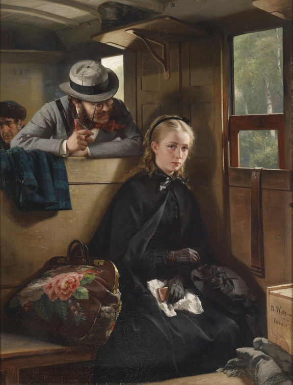 The Irritating Gentleman by Berthold Woltze, 1874.