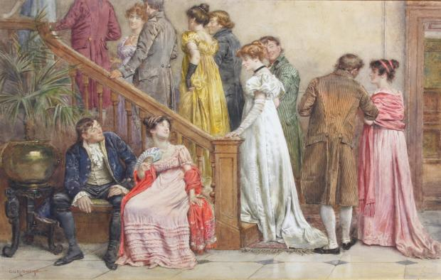 The Next Dance by George Goodwin Kilburne, (1839-1924).